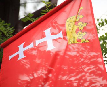 articleImage: Gdańsk: chorągiewki, pierogi, prezent z bursztynu dla książęcej pary Williama i Kate