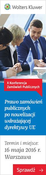X Konferencja Zamówień Publicznych - 16 maja 2016
