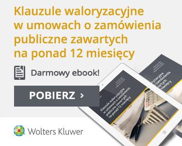 Ebook - Klauzule waloryzacyjne w umowach o zamówienia publiczne zawartych na ponad 12 miesięcy