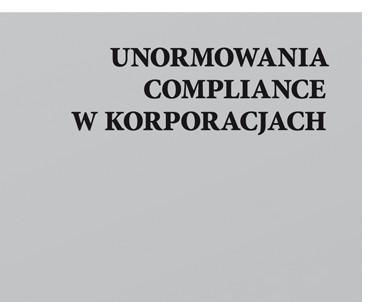 articleImage: Unormowania compliance w korporacjach [Książka tygodnia]